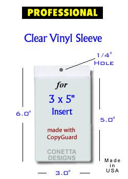 (50) Bookmark Photo Sleeves 3x5''