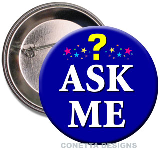 Ask Me Buttons (Blue)