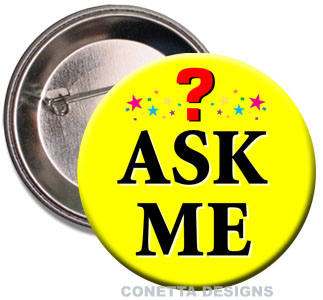 Ask Me Buttons (Yellow)