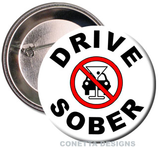 Drive Sober Buttons