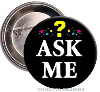 Ask Me Buttons (Black)