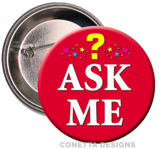 Ask Me Buttons (Red)