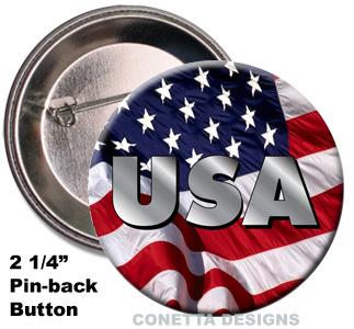 Flag USA Buttons