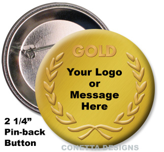 Gold Medal Button