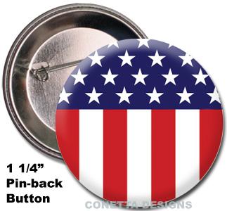 USA Flag Buttons (Mini)
