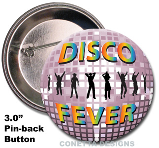 Disco Fever Buttons (Large)