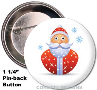 Santa Buttons (Mini)