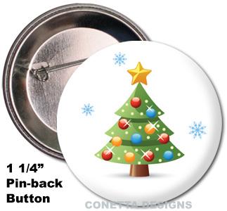 Xmas Tree Buttons (Mini)