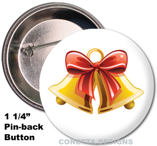 Holiday Bells Buttons (Mini)