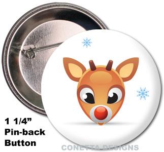 Raindeer Buttons (Mini)