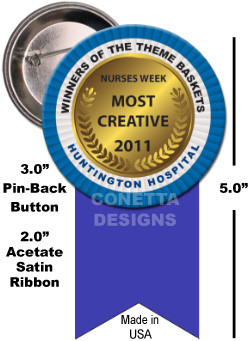 Award 3.0'' Buttons + Unprinted Ribbon