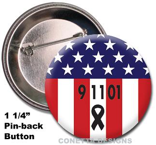 9-11 USA Flag Buttons (Mini)