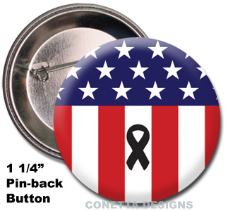 USA Memorial Flag Buttons (Mini)