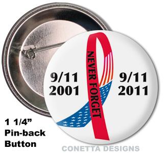 9-11 Awareness Buttons (Mini)