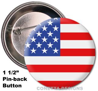USA Flag Buttons