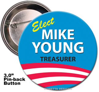 Election Button Design #02 (Large)