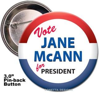 Election Button Design #03 (Large)