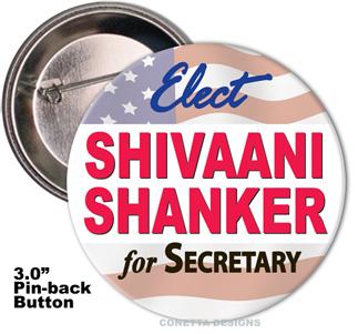 Election Button Design #05 (Large)