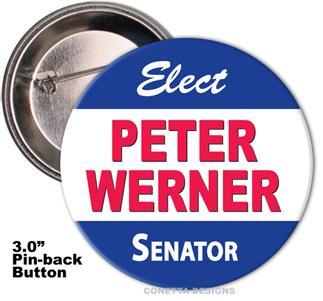 Election Button Design #06 (Large)