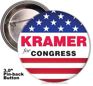 Election Button Design #07 (Large)