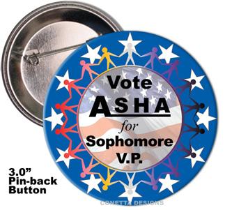 Election Button Design #08 (Large)