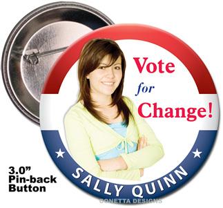 Election Button Design #09 (Large)