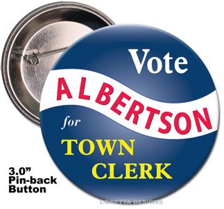 Election Button Design #10 (Large)