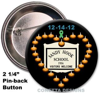 Sandy Hook Candles Awareness Pins