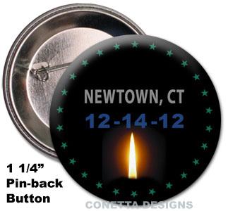 Newtown Awareness Pins (mini)