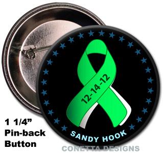 Sandy Hook Awareness Pins (mini)