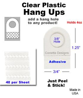 Clear Hang Ups - 4oz.
