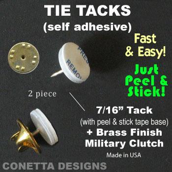 Tie Tacks - Self-Adhesive