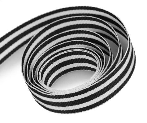 Black - White - Grosgrain (50yd)