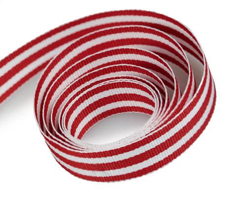 Red - White - Grosgrain (50yd)