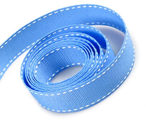 Capri Blue-White Stitch (50yd)