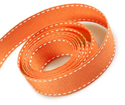Torrid Orange-White Stitch (50yd)