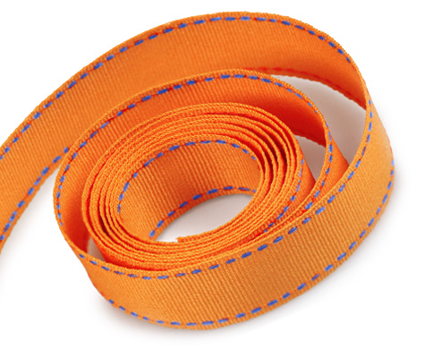 Torrid Orange-Capri Blue Stitch (50yd)