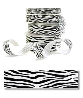 Zebra - Grosgrain (25yd)
